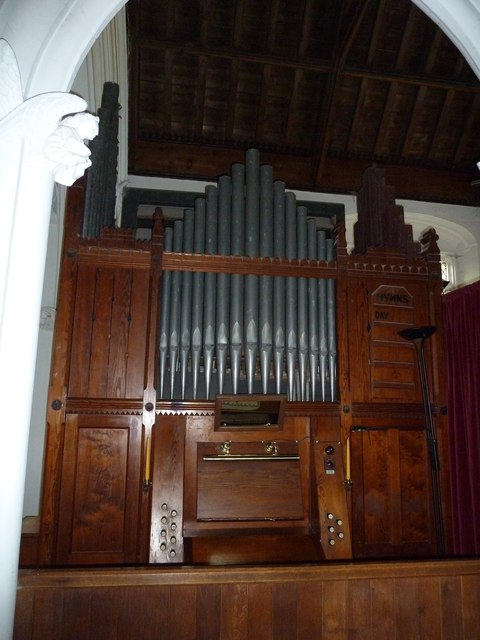 Saint Andrew, Chew Stoke: organ keyboard