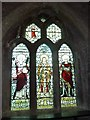 ST5456 : St Michael the Archangel, Compton Martin: stained glass window (a) by Basher Eyre