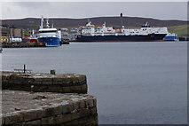 HU4642 : Northlink vessels at Holmsgarth pier, Lerwick by Mike Pennington