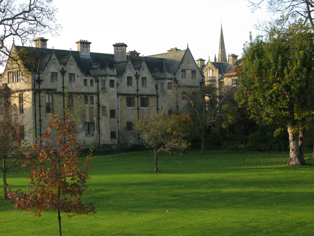 NE corner of Fellows' Garden, Merton College