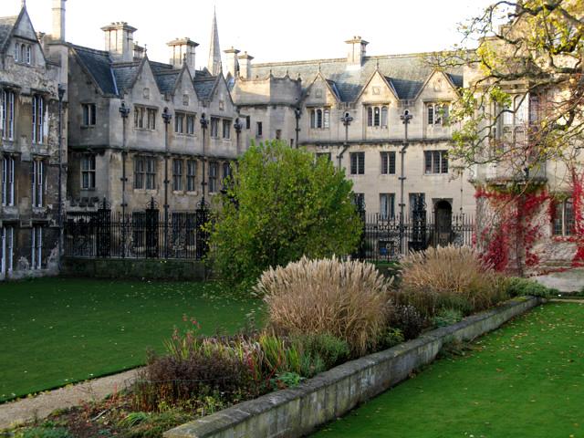 St Alban's Quad from Fellows' Garden
