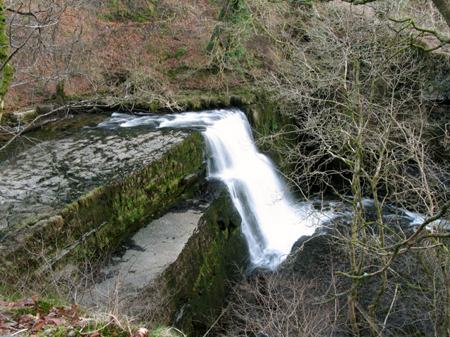 Sgwd Clun-gwyn waterfall on the Afon Mellte