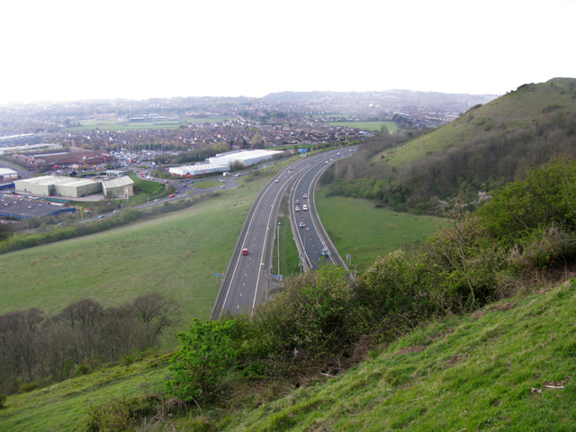 The A20 from Round Hill