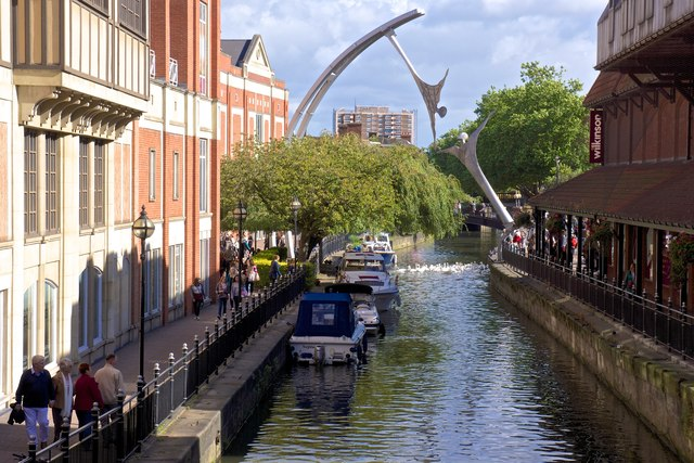 The River Witham, Lincoln