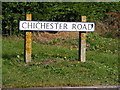 TM3878 : Chichester Road sign by Adrian Cable