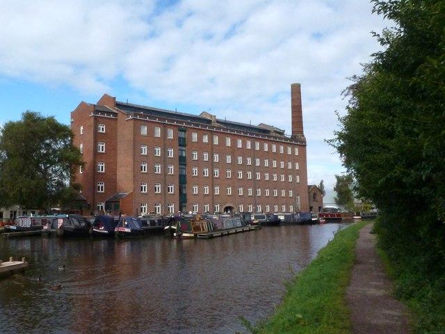 The old Hovis flour mill at Macclesfield Marina