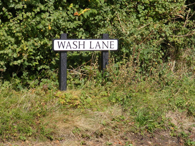 Wash Lane sign