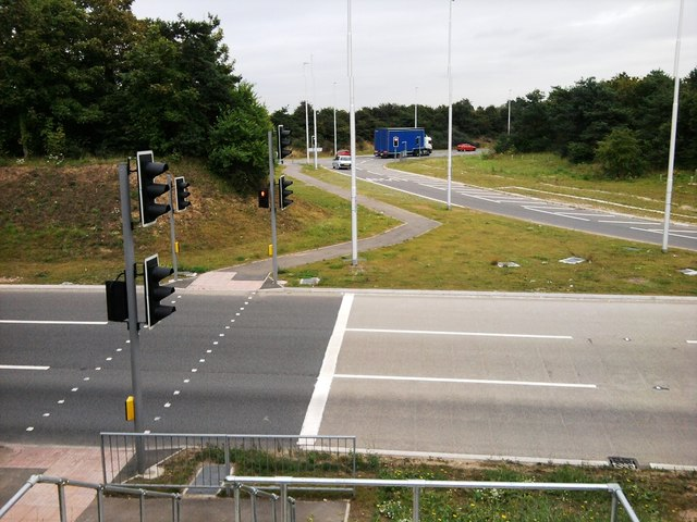 A14 Roundabout At Trimley