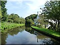 SO8379 : Canalside houses off Lea Lane by Christine Johnstone
