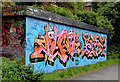 J3470 : Graffiti, Lagan towpath, Belfast (October 2012) by Albert Bridge