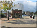 NZ2029 : The Hut in Bishop Auckland Bus Station by peter robinson