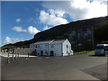 D0544 : Cafe and former lime kilns at the car park for Carrick-a-Rede by David Smith