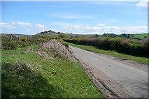 SX7379 : Lane across Swine Down by Graham Horn