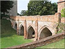 TL7835 : Norman bridge, Hedingham Castle by PAUL FARMER