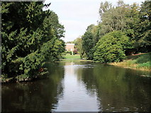 TL7835 : Lake in grounds of Hedingham Castle by PAUL FARMER
