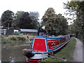 SK0418 : Working Narrow Boat Hadar moored near Bridge No.67, Rugeley by Keith Lodge