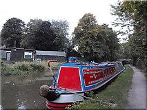 SK0418 : Working Narrow Boat Hadar moored near Bridge No.67, Rugeley by Keith Lodge