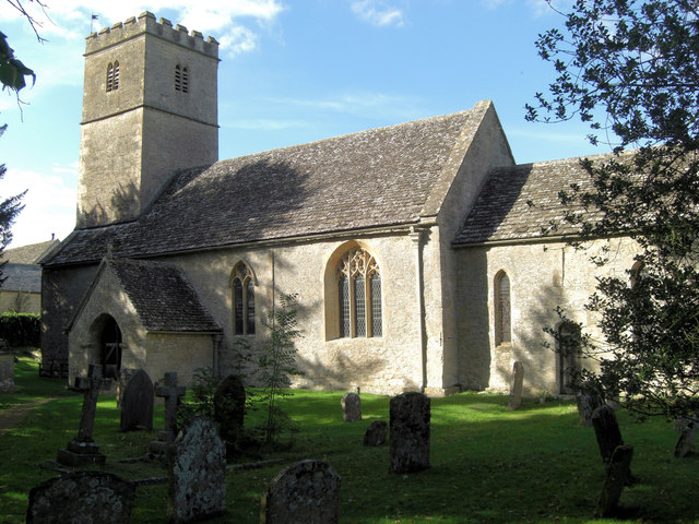 Church of St Andrew, Coln St Dennis