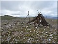 NN6451 : Not so much a summit cairn now by Richard Law