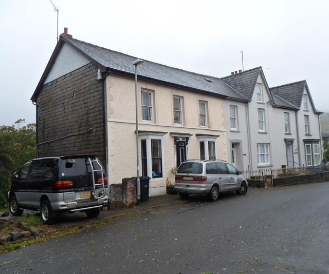 A row of three houses, Station Road, Llanwrtyd Wells