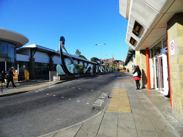 South side of Gateshead Bus Station