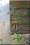 ST6834 : Benchmark on railway bridge over B3081 by Roger Templeman