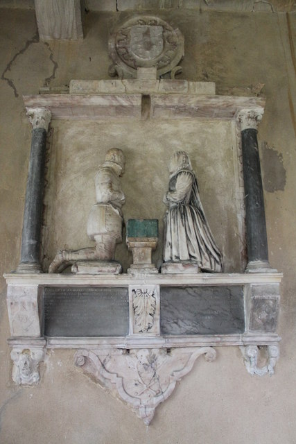 Monument to Sir Charles Dymoke & wife, St Oswald's church, Howell