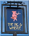 ST3136 : The Pig & Whistle pub sign, Bridgwater by Jaggery