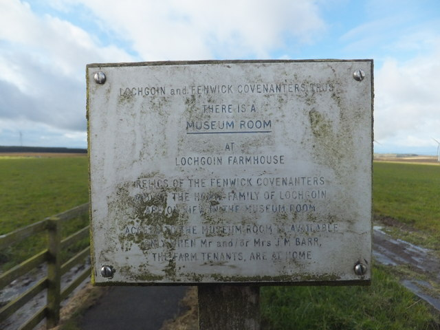 Lochgoin  and Fenwick  Covenanters Trust Plaque 1