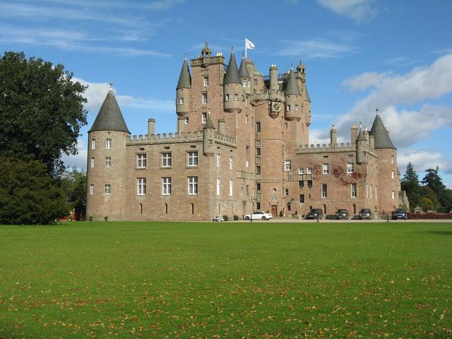 Glamis Castle from near the West Tower