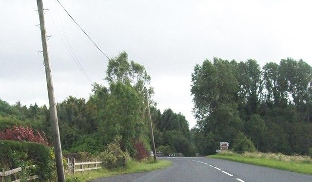 Minor road junction on B82 at Glenkeen by Eric Jones