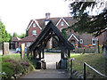 TQ3952 : Lych gate of St Mary's church by Stephen Craven