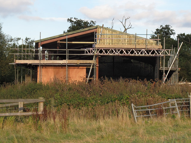 Barn being repaired