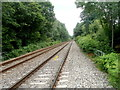 SO3205 : Railway lines heading SSW, Perperlleni by Jaggery