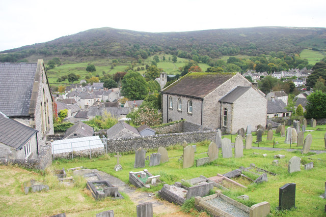 The graveyard below Hungry Lane