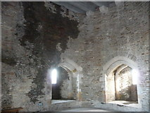ST1587 : Inside one of the restored towers of Caerphilly Castle by Jeremy Bolwell