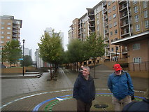 TQ3880 : Neat avenue of trees in Virginia Wharf by Robert Lamb