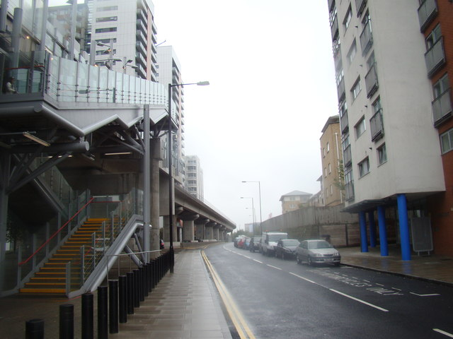View up Blackwall Way