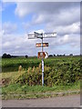 TM3384 : Roadsign at Wash Lane junction by Adrian Cable
