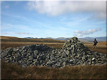 NY4513 : Prehistoric cairn on Low Raise by Karl and Ali