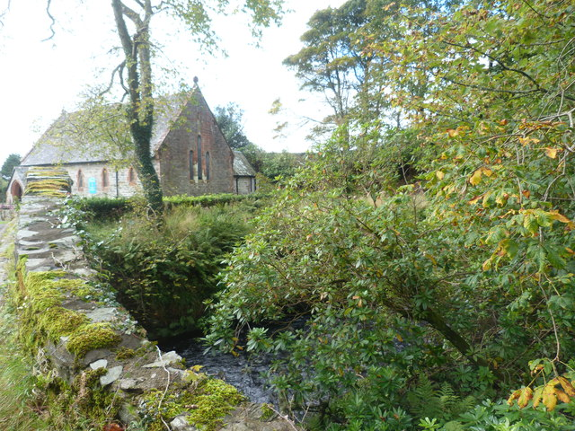 The bridge and St. Brendan's Church at Skipness