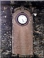 NR9057 : Skipness war memorial, clock and inscription by Rose and Trev Clough