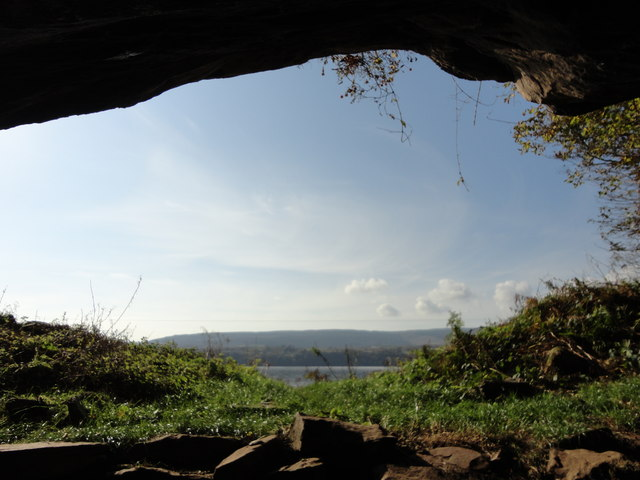 View from inside St Molaises cave