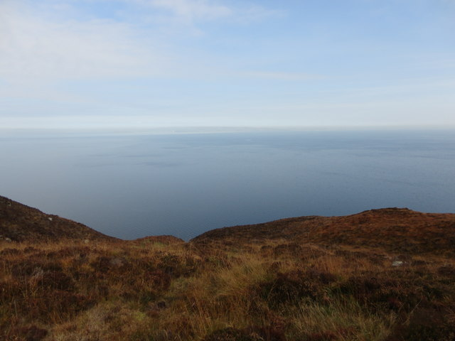 Looking towards the mainland from Holy Isle