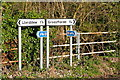 SO0729 : Road junction near Troedyrharn by Graham Horn