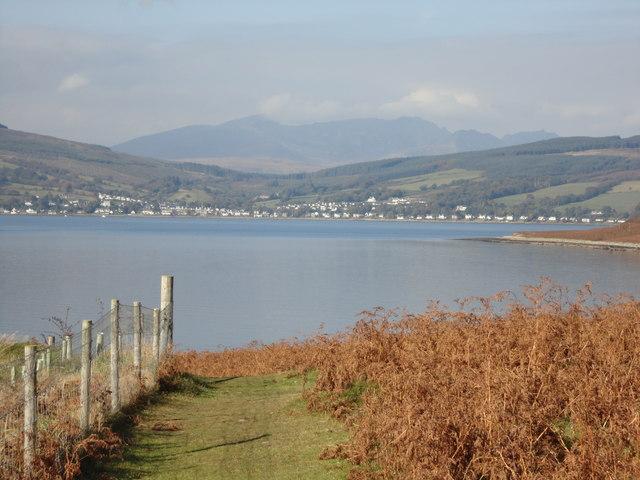 Looking towards Lamlash from Holy Isle