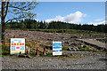 NN7559 : Clear Fell near Bohespic by Anne Burgess