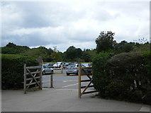 TQ2372 : Wimbledon Common cafe gate by Austenasia