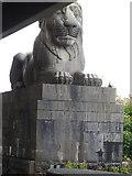 SH5371 : Britannia Bridge Lion by Arthur C Harris