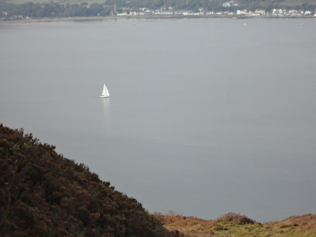 Lonely yacht in the bay